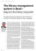Lms is dead_long_live_ecosystem_cilip update_sept2013