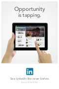 LinkedIn iPad 2012 launch poster