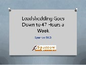 Loadshedding goes down to 47 hours a week