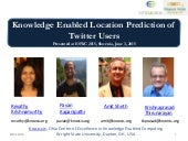 Knowledge Enabled Location Prediction of Twitter Users