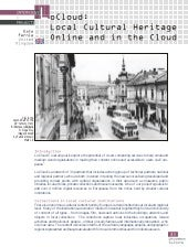 LoCloud: Local Cultural Heritage Online and in the Cloud