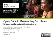Open Data in Developing Countries