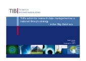 TIB's action for research data managament as a national library's strategy in the big data era