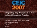 Log Forensics from CEIC 2007