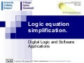 Logic Equation Simplification