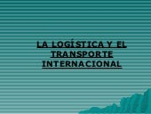 Logisticaytransporte internacional