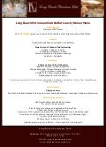 Long Beach Petroleum Club Buffet Lunch and Dinner Menu