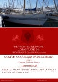 CUSTOM COQUILLIER RADE DE BREST, 1971, 180.000 € For Sale Yacht Brochure. Presented By longitude64.ch