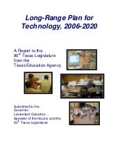 Long Range Plan For Technology 2006...
