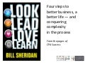 Look, Lead, Love, Learn: Four Steps to Better Business, a Better Life, and Conquering Complexity