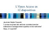 L'Open Access en 12 diapositives