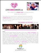 """LOVE CURES CANCER"" 2009 to 2011 Bo..."