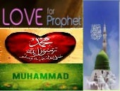 Love of the Prophet Mohammad (SAW)