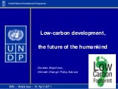Low carbon development, the future ...