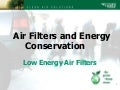 Low energy air filters facilities show 2010