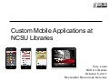 Mobile Apps at NCSU Libraries
