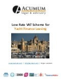 Malta VAT Scheme - Yacht Finance Leasing - Acumum-Legal & Advisory