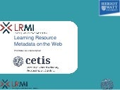 Learning resource metadata on the web (LiLE workshop)