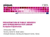 Privatization of Public Services an...