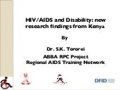 HIV/AIDS and Disability: new resear...