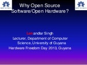 Why Open Source Software/Open Hardw...