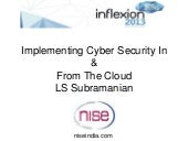 Lss implementing cyber security in ...