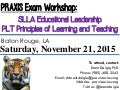 Baton Rouge, LA:  PRAXIS Workshop - SLLA & PLT - November 21, 2015