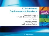 Lte advanced conformance & standards