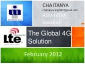 LTE Advanced - The Global 4G Standard