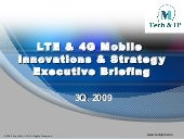 LTE and 4G  Executive Briefing 3Q 2009