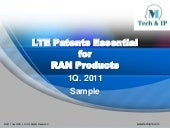 LTE Patents Essential for RAN Prod...