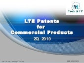 LTE Patents for Commercial Products...