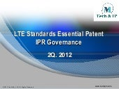 LTE Standards Essential Patent IPR ...