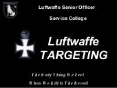 Luftwaffe Targeting