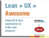 Lean+UX=Awesome