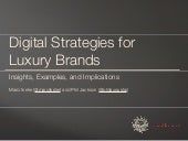 Digital Strategies for Luxury Brands