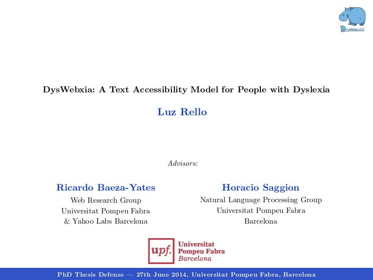 Phd thesis on character recognition
