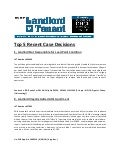 Landlord v. Tenant Case Decisions: Lead Paint Conditions, Section 8 Tenant, Final Chances, and MORE