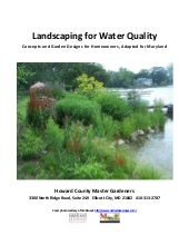 Landscaping for Water Quality: Conc...