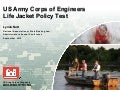 US Army Corps of Engineers Life Jacket Policy Test