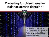 Preparing for data-intensive science across domains.