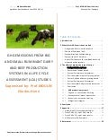 Life cycle assessment (LCA) of Dairy and beef cattles
