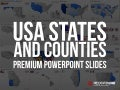 PowerPoint USA States With Counties Template