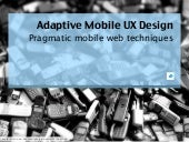Adaptive Mobile UX Design (Extended...