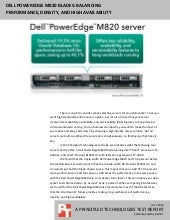 Dell PowerEdge M820 blades: Balancing performance, density, and high availability