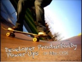Mac OSX Software Developer Productivity Tips