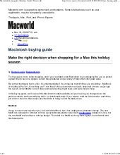 Macintosh Buying Guide