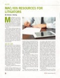 Mac OS X and iOS resources for litigators [GPSolo Magazine, SeptOct 2014]