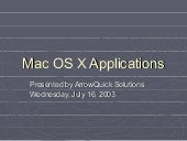 Mac OS X Applications