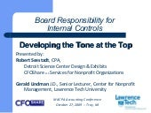 Board Responsibility for Internal C...